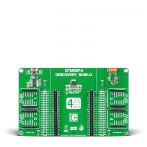 STM32F4 Discovery Shield - adapter 4 click moodulile
