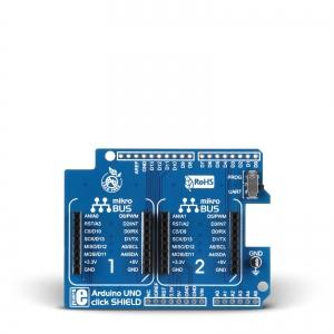 Arduino UNO click shield - adapter 2 click moodulile