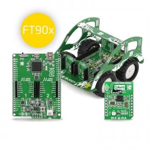 BUGGY - robotliikuri arendusplatvorm, FT90x mikrokontrolleriga