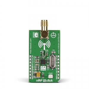 nRF S click - nRF24L01P  2.4GHz transiiveri moodul
