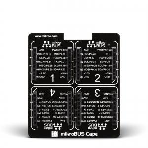 mikroBus Cape - BeagleBone adapter 4 click moodulile
