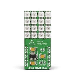 4x4 RGB click - 4x4 RGB LED maatriks displei