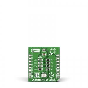 Ambient 2 Click - OPT3001 valgustugevuse anduri moodul