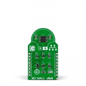 3D Hall Click - MLX90333 kolmeteljeline Hall anduri moodul