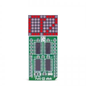 7x10 R click - 7x10 LED maatriks displei, punane
