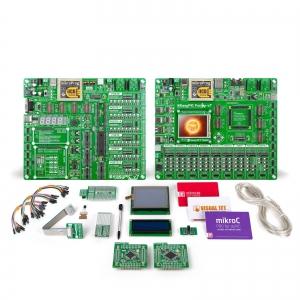 mikroLAB dsPIC XL arendusplatvorm + mikroC kompilaator