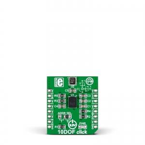 10DOF click - güroskoop/kompass/kiirendus ja kõrgusanduri moodul