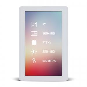 Riverdi TFT displei 7´´ 800x480px, puutetundlik, valge raam