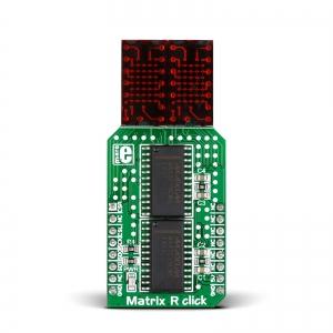 Matrix R click - 2x5x7 LED maatriks displei, punane