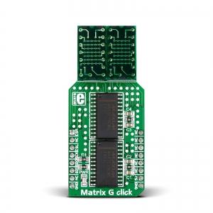 Matrix G click - 2x5x7 LED maatriks displei, roheline