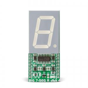 BIG 7-SEG R click - 7-segment LED displei, punane