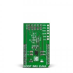 6DOF IMU 2 click - BMI160 güroskoop/kiirendusanduri moodul