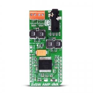 2x5W AMP click - TDA7491 2x5W audio võimendi moodul