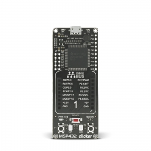 MSP432 Clicker - stardiplatvorm ARM Cortex-M4 mikrokontrolleriga