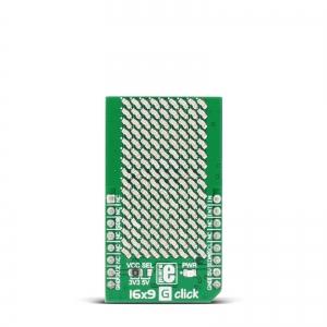 16x9 G click - 16x9 LED maatriks displei, roheline