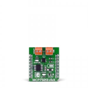 MCP73213 Click - Li-Po/Li-Ion akukontrolleri moodul