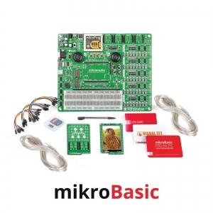 mikroLAB arenduskomplekt mikromedia PIC18FJ displeile, mikroBasic kompilaatoriga