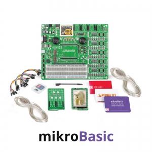 mikroLAB arenduskomplekt mikromedia PIC24EP displeile, mikroBasic kompilaatoriga