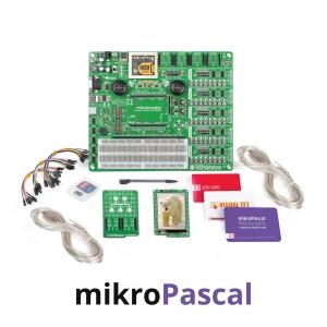 mikroLAB arenduskomplekt mikromedia PIC24EP displeile, mikroPascal kompilaatoriga