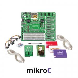 mikroLAB arenduskomplekt mikromedia dsPIC33 displeile, mikroC kompilaatoriga