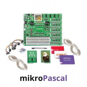 mikroLAB arenduskomplekt mikromedia dsPIC33 displeile, mikroPascal kompilaatoriga