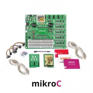 mikroLAB arenduskomplekt mikromedia PIC32 displeile, mikroC kompilaatoriga