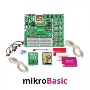 mikroLAB arenduskomplekt mikromedia PIC32 displeile, mikroBasic kompilaatoriga