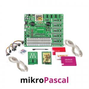 mikroLAB arenduskomplekt mikromedia PIC32 displeile, mikroPascal kompilaatoriga