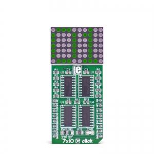 7x10 G click - 7x10 LED maatriks displei, roheline