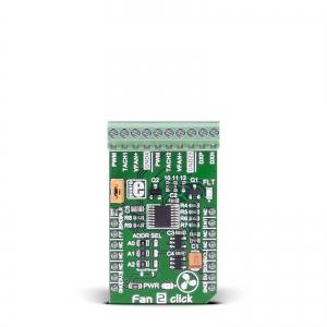 Fan 2 click - MAX31760 ventilaatori kontrolleri moodul