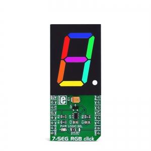 7-SEG RGB click - 7-segment RGB LED displei
