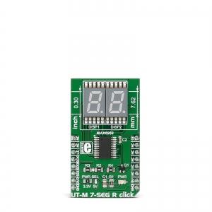UT-M 7-SEG R click - 2x7-segment LED displei, punane