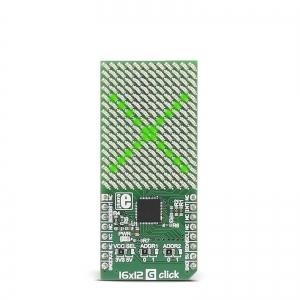 16x12 G click - 16x12 LED maatriks displei, roheline