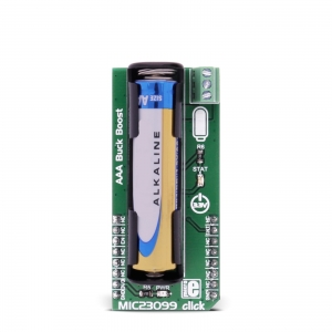 MIC23099 click - patareiga toitekonverteri moodul