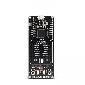 PIC32MZ clicker - stardiplatvorm 32-bit PIC32MZ mikrokontrolleriga