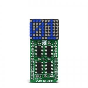 7x10 B click - 7x10 LED maatriks displei, sinine