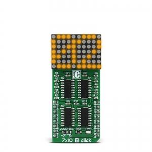7x10 Y click - 7x10 LED maatriks displei, kollane