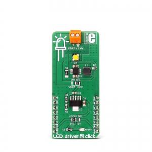 LED driver 2 click - MCP1643 LED draiveri moodul