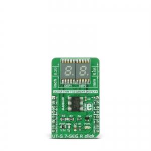 UT-S 7-SEG R click - 2x7-segment LED displei, punane