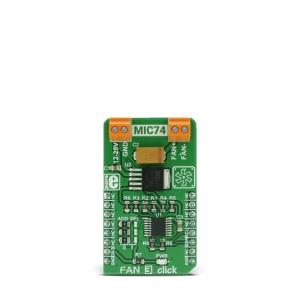 Fan 3 click - MIC74 ventilaatori kontrolleri moodul