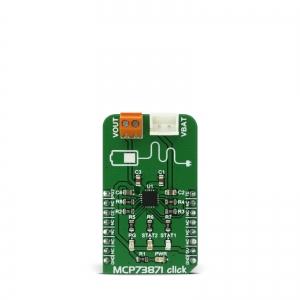 MCP73871 Click - Li-Po/Li-Ion akukontrolleri moodul