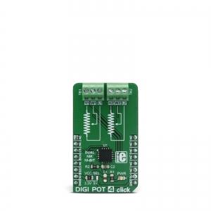 DIGI POT 4 click - MAX5494 2 kanaliga digi potentsiomeetri moodul