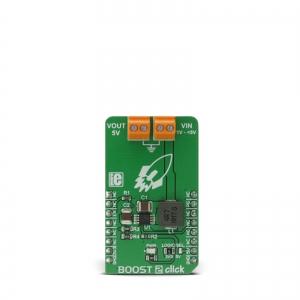 BOOST 2 click - MCP1642B  5V 1A toitekonverteri moodul