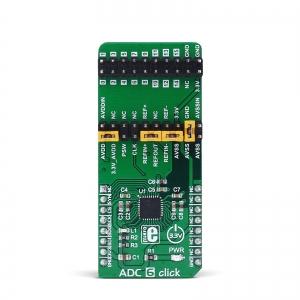ADC 6 click - AD7124-8  8/15 kanaliga 24-bit AD muunduri moodul