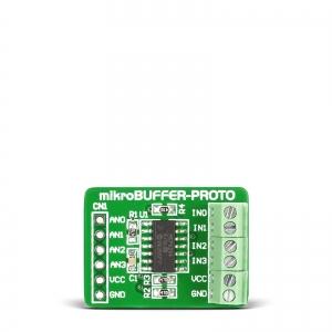 mikroBuffer PROTO - MCP6284 puhvervõimendi moodul