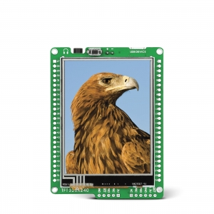 mikromedia 2.8´´ nutikas displei PIC24FJ mikrokontrolleriga