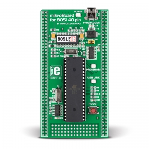 mikroBoard 8051 40-pin arendusplatvorm AT89S8253 mikrokontrolleriga