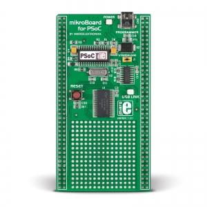 mikroBoard PSoC arendusplatvorm CY8C27643 mikrokontrolleriga