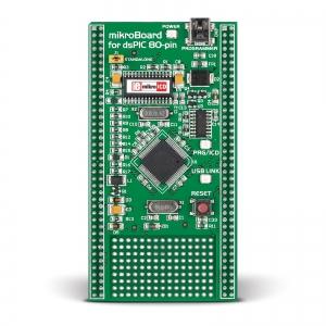 mikroBoard dsPIC arendusplatvorm dsPIC30F6014A mikrokontrolleriga