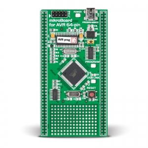 mikroBoard AVR arendusplatvorm ATmega128 mikrokontrolleriga